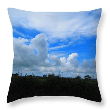 Welsh Sky Throw Pillow