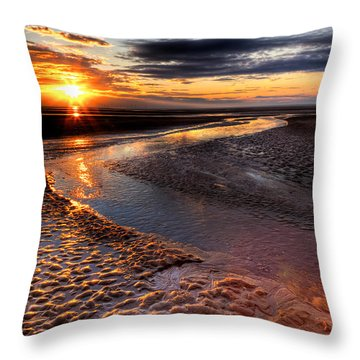 Welsh Sunset Throw Pillow by Adrian Evans