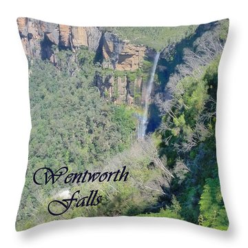 Wentworth Falls Throw Pillow by Carla Parris