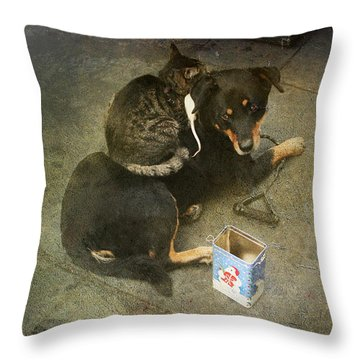 We're In This Together Throw Pillow by Laurie Search