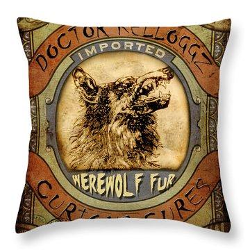 Throw Pillow featuring the digital art Werewolf Fur  by Nada Meeks