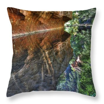 Throw Pillow featuring the photograph West Fork Reflection by Tam Ryan