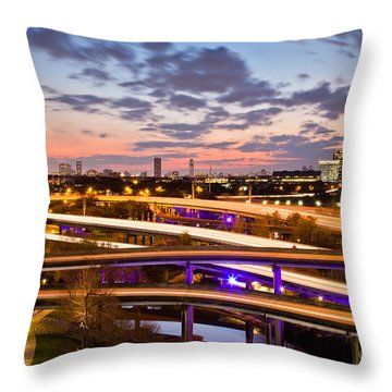 West Houston Around Dowtown Throw Pillow
