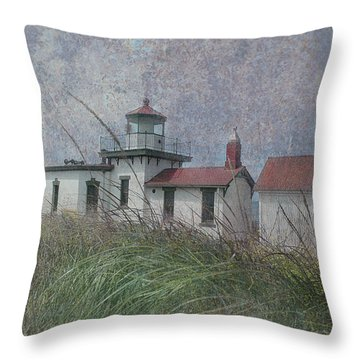 West Point Lighthouse - Seattle Throw Pillow
