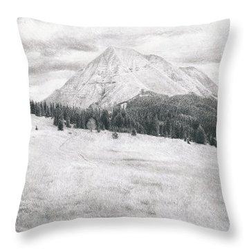 West Spanish Peak Throw Pillow