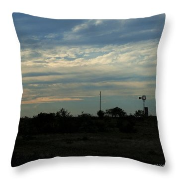 West Texas Sunset Throw Pillow by Travis Burgess