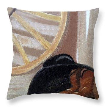 Western Art Work For Luke Throw Pillow