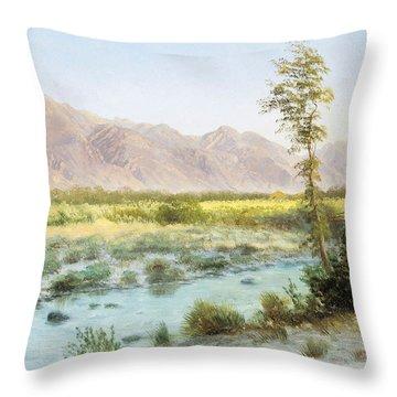 Western Landscape Throw Pillow by Albert Bierstadt