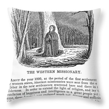 Western Missionary Throw Pillow by Granger