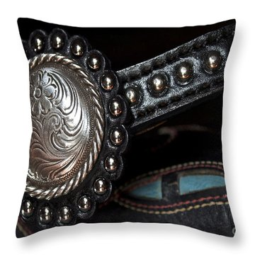Western Pizzaz Throw Pillow by Gwyn Newcombe