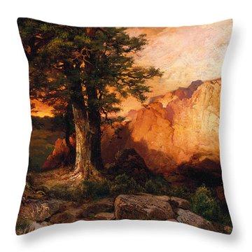 Western Sunset Painting By Thomas Moran