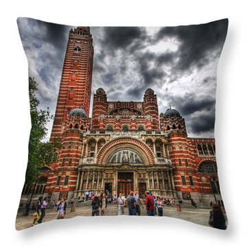 Westminster Cathedral Throw Pillow by Yhun Suarez