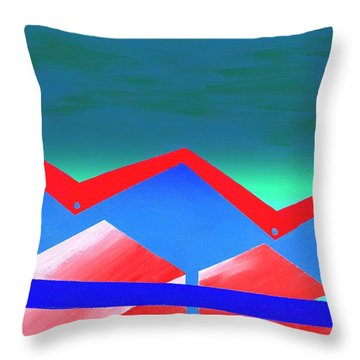 Wexler Folded Roof Eight Throw Pillow by Randall Weidner