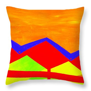 Wexler Folded Roof Four Throw Pillow by Randall Weidner
