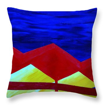 Wexler Folded Roof Six Throw Pillow by Randall Weidner