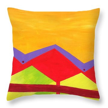 Wexler Folded Roof Three Throw Pillow by Randall Weidner