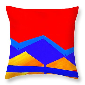 Wexler Folded Roof Two Throw Pillow by Randall Weidner