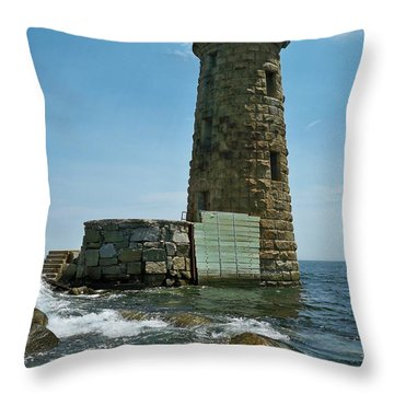 Whaleback Light Throw Pillow by Rick Frost