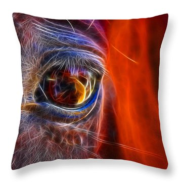 What Are You Looking At Now? Throw Pillow by Mariola Bitner