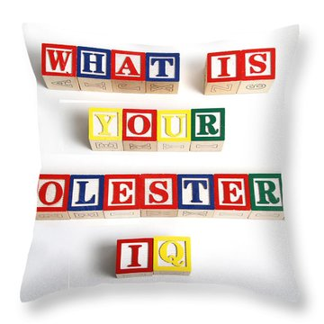 What Is Your Cholesterol Iq Throw Pillow by Photo Researchers