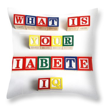 What Is Your Diabetes Iq Throw Pillow by Photo Researchers