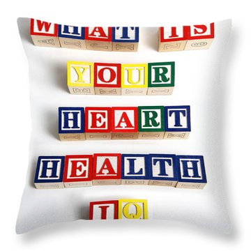 What Is Your Heart Health Iq Throw Pillow by Photo Researchers, Inc.