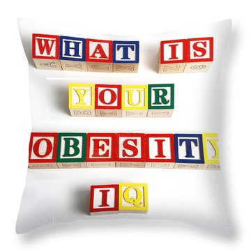 What Is Your Obesity Iq Throw Pillow by Photo Researchers