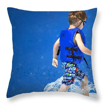 What Life Is All About Throw Pillow by Gwyn Newcombe