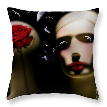 Throw Pillow featuring the digital art What The Dreams Feed by Rosa Cobos