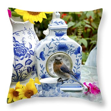 What Time Is Tea After Church Throw Pillow