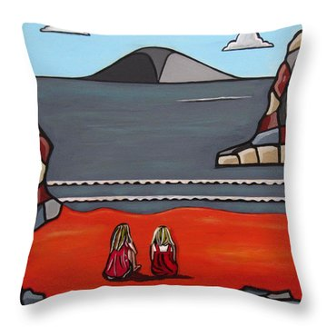 What Was Throw Pillow by Sandra Marie Adams