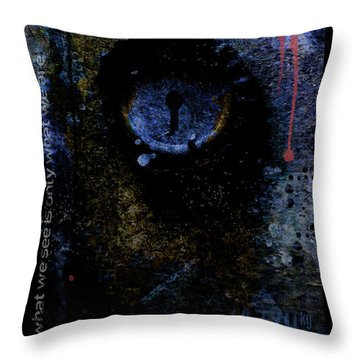 What We See Is Only What We Are Throw Pillow by Ron Jones