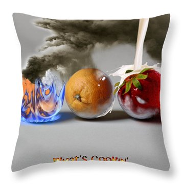 What's Cookin' Throw Pillow