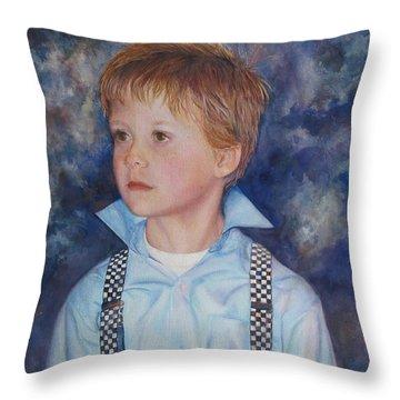 Blue Boy Throw Pillow