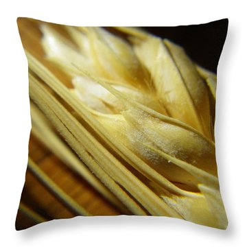 Wheatberries Throw Pillow