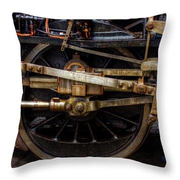 Wheel Throw Pillow by Gert Lavsen