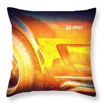 Wheel On Fire Throw Pillow by Diane montana Jansson