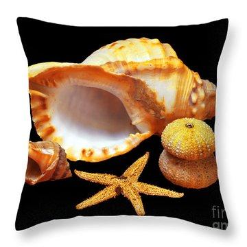 Whelk Throw Pillow by Carlos Caetano