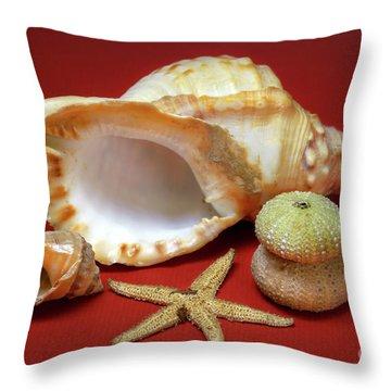 Whelks Throw Pillow by Carlos Caetano