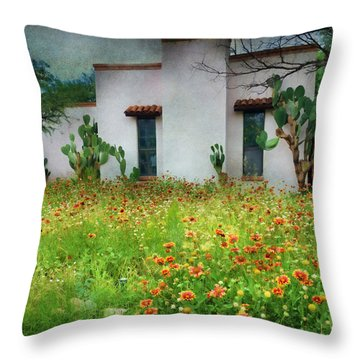 Throw Pillow featuring the photograph When A House Is A Home by Barbara Manis
