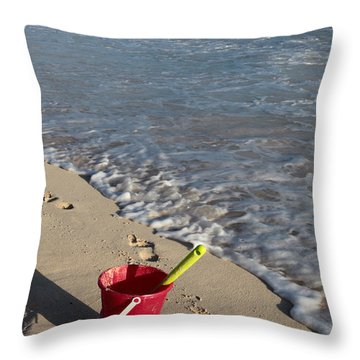 Throw Pillow featuring the photograph When Can We Go To The Beach? by Karen Lee Ensley