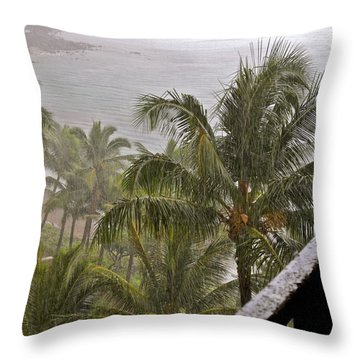 When It Rains It Pours Throw Pillow by Kirsten Giving