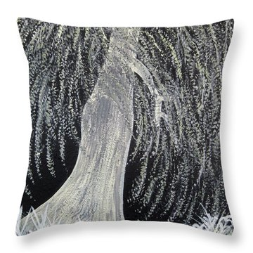 When Willows Weep Throw Pillow