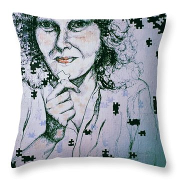 Where Does The Next Piece Go? Throw Pillow by Rory Sagner