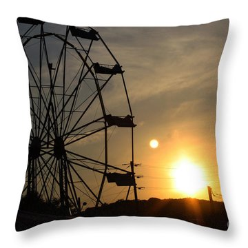 Where Has Summer Gone Throw Pillow by Tony Cooper