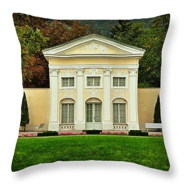 Where Lovers Meet Throw Pillow by Mary Machare