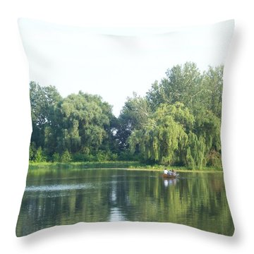 Where The Two Meet Throw Pillow by Nora Boghossian