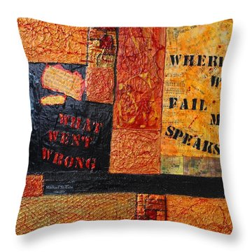 Where Words Fail Music Speaks Throw Pillow by Victoria  Johns