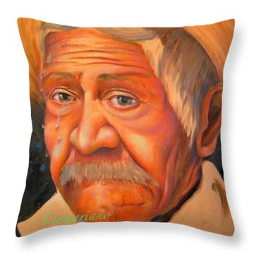 Whether To Cry Or To Smile Throw Pillow by Leomariano artist BRASIL