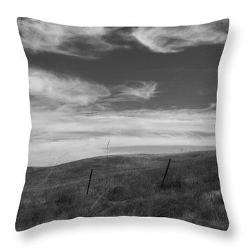 Throw Pillow featuring the photograph Whipping Up The Hillside by Kathleen Grace